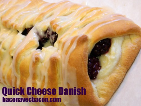 Quick Cheese Danish | baconavecbacon.com